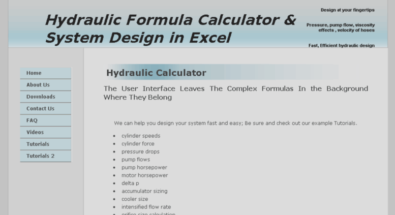 Access hydraulicssimplified com  Hydraulics Simplified Home