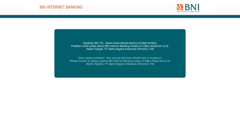 Access Ibank Bni Co Id Bni Internet Banking Login Ke Internet Banking