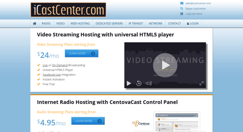 Access icastcenter com  SHOUTcast Hosting - SHOUTcast Server