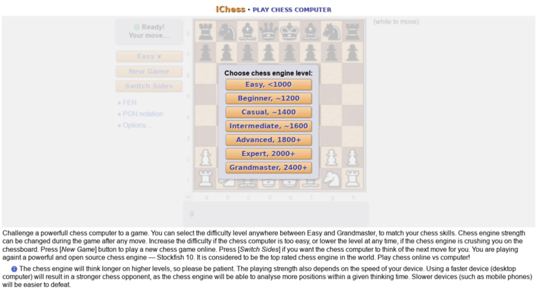 Access ichess com  Play Chess Online - Free Online Chess on