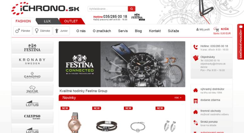 671f5c50077f Access ichrono.sk. Online predaj hodiniek značky Festina Group ...