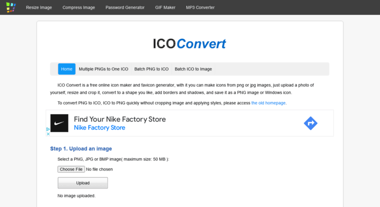 Access icoconvert com  ICO Convert - Create Icons From PNG & JPG