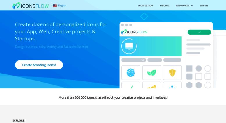 Access iconsflow com  FREE Icon Maker - generate stylish flat icons