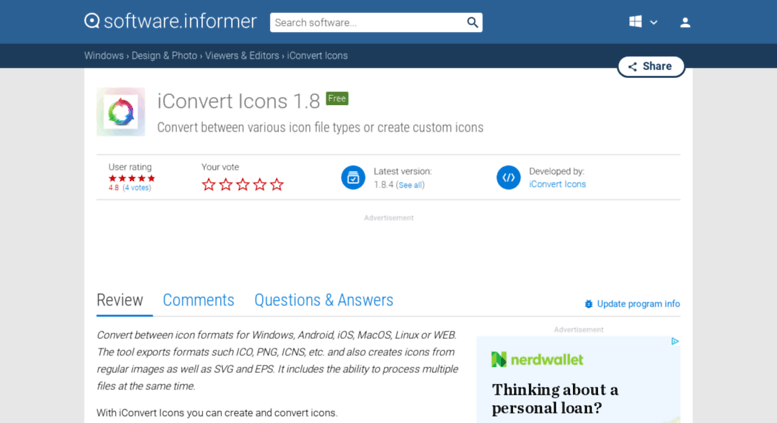 Access iconvert-icons software informer com  iConvert Icons