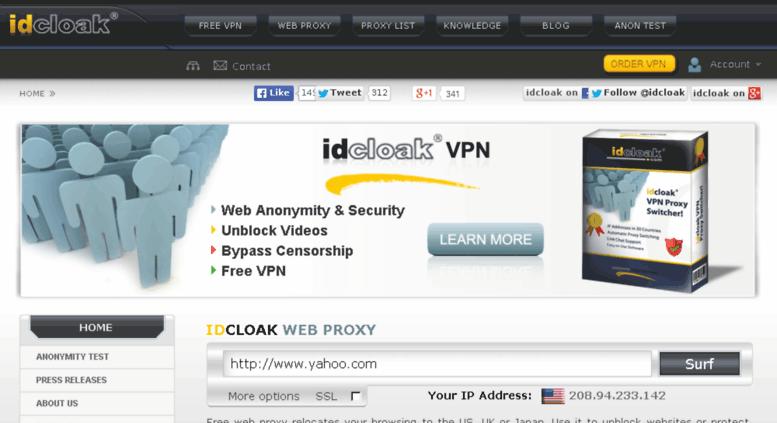 Access idcloak com  Free VPN Service | Free VPN Software