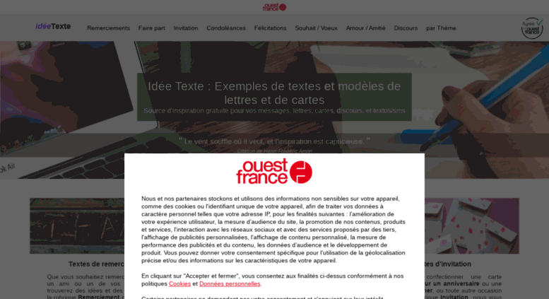 Access Ideetexte Fr Idée Texte Exemples De Textes Modèles