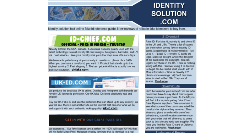 Access identity-solution com  Fake IDs free id template buy novelty