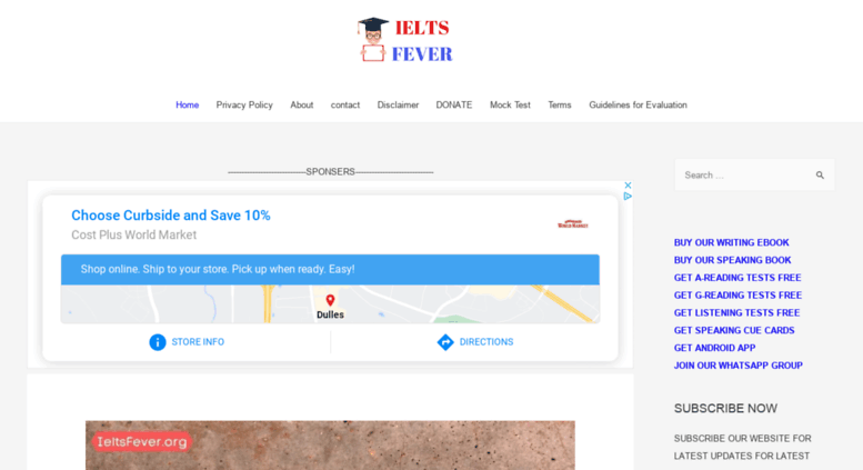 Access ieltsfever com  Ielts Fever Free practice Tests for students