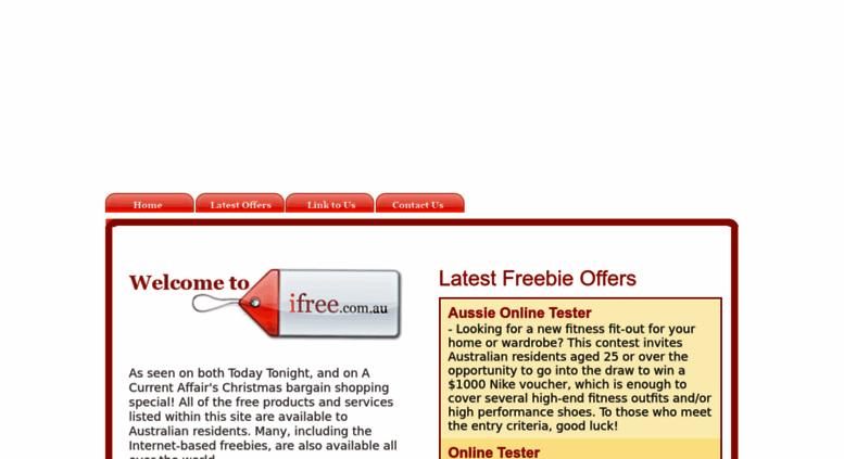 Access ifree com au  iFree - Free Stuff for Australia