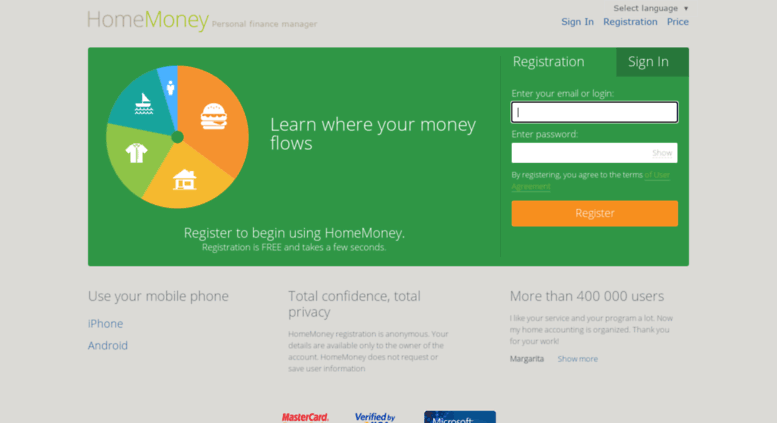 access ihomemoney com homemoney home accounting online expenses