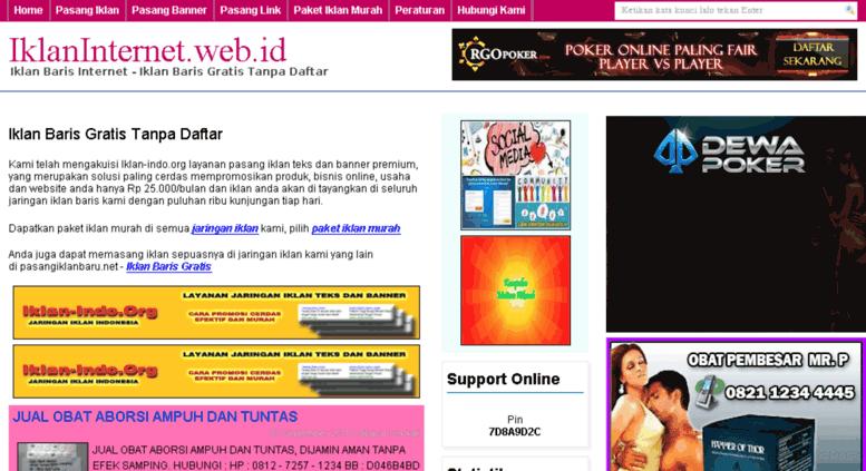 Access Iklaninternet Web Id Domain Expired