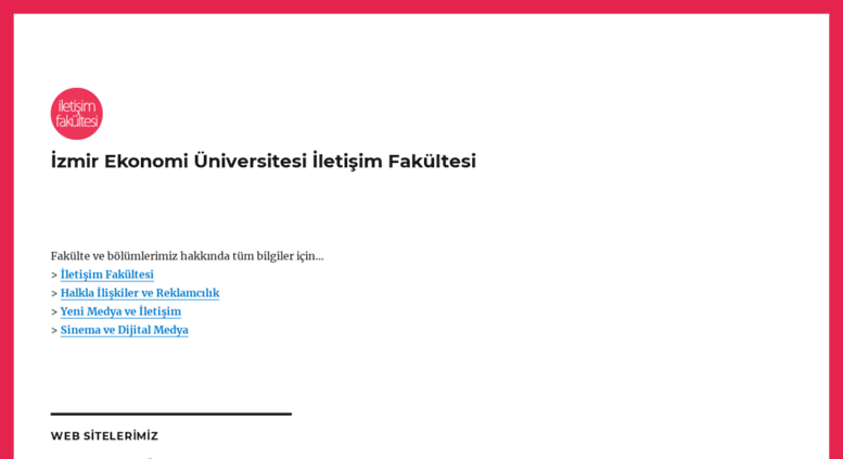 Access Iletisim Ieu Edu Tr Izmir Ekonomi Universitesi Iletisim Fakultesi
