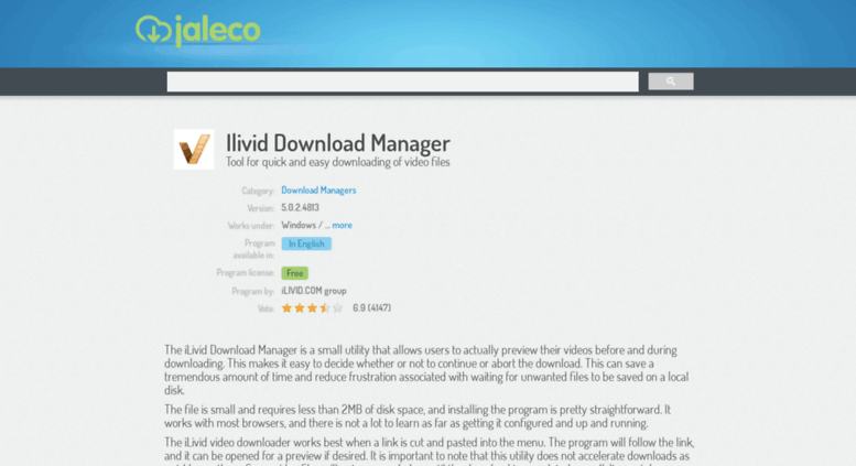 Access ilivid-download-manager jaleco com  Ilivid Download