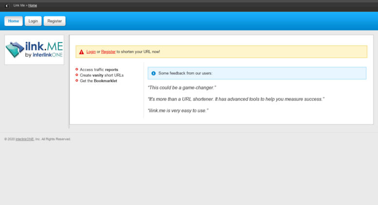Access ilnk me  Shorten URL | ilnk me