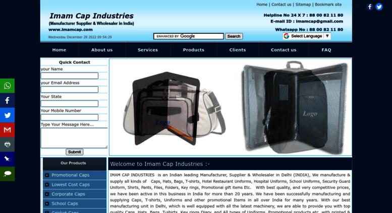 660344e9981ea Access imamcap.com. Promotional Cap Bag T-shirts uniforms ...