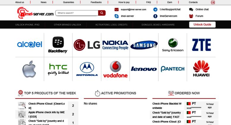 Access imei-server com  Unlock smartfones Online by IMEI- IMEI