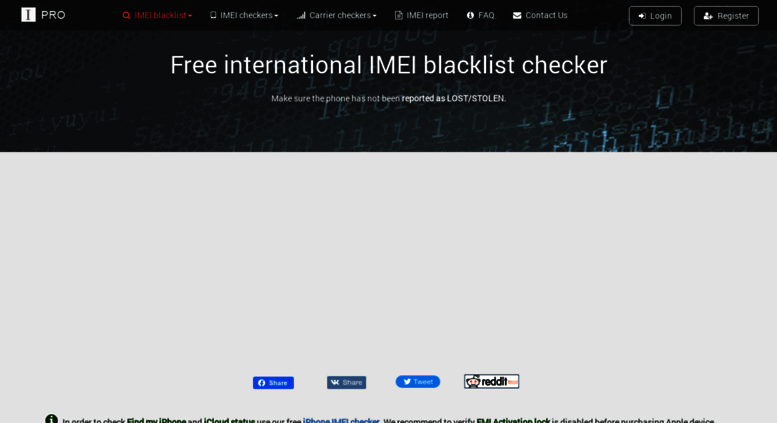 Access imeipro info  Check IMEI number / ESN - free checker IMEIpro info