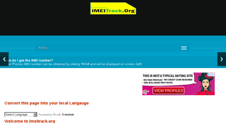 Access imeitrack org  IMEI tracker how to track or trace
