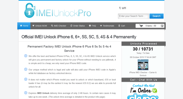 Access imeiunlockpro com  IMEI Unlock iPhone 6 Plus 6 5S 5C 5 4S 4