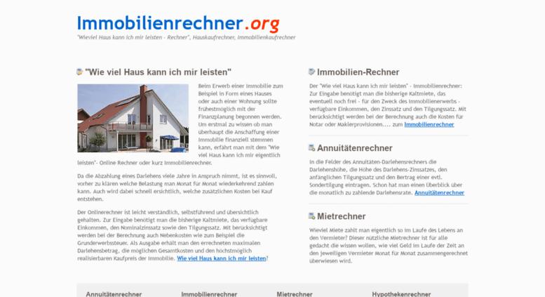 Access Immobilienrechner Org Immobilienrechner Wie Viel Haus Kann