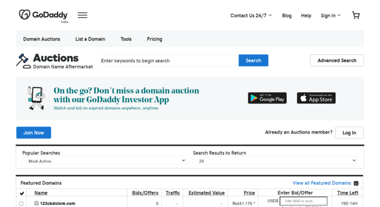 Access in auctions godaddy com  Domain Auction | Buy & Sell