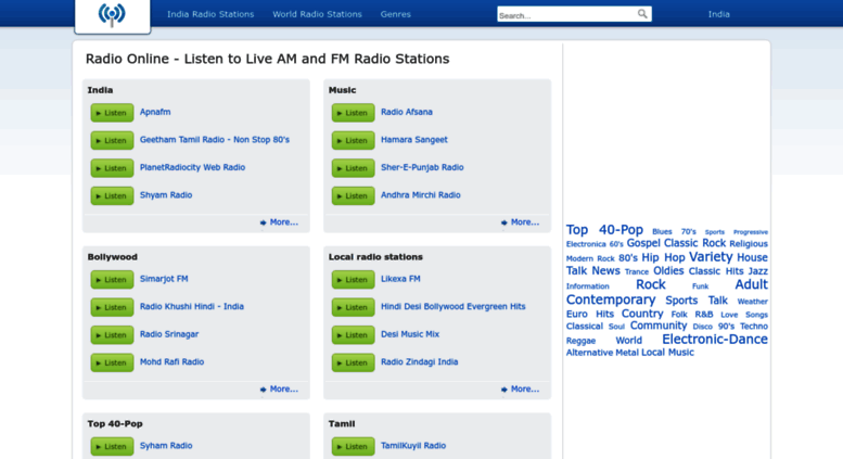 Access in optiradio com  Radio Online - Listen to Live AM and FM