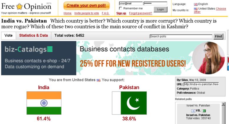 Access india-vs-pakistan free-opinion com  Biz-Catalogs com