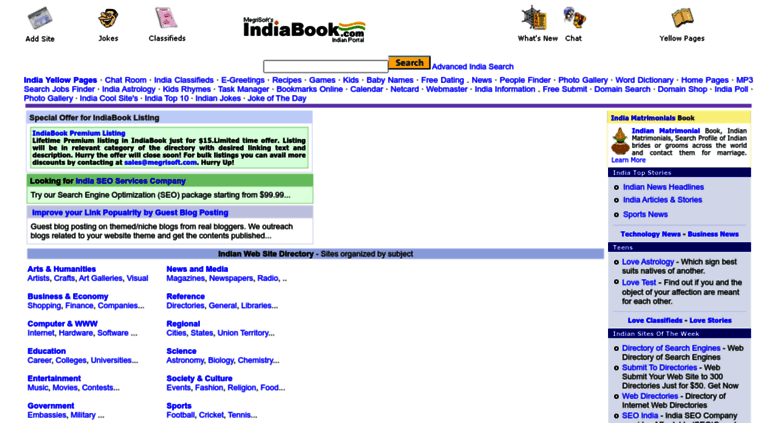 Access indiabook com  India Book: India Search Engine