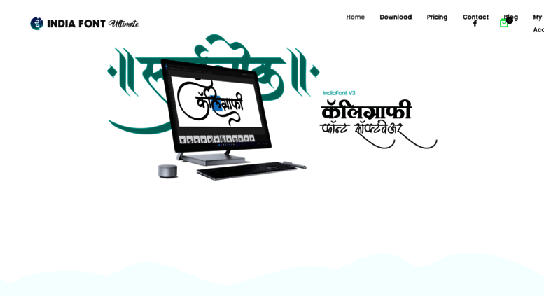 Access indiafont com  Marathi, Hindi Calligraphy Fonts