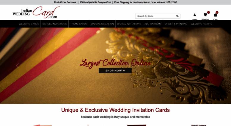indianweddingcard.com screenshot