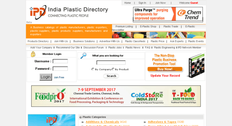 Access indiaplasticdirectory com  India Plastic Directory