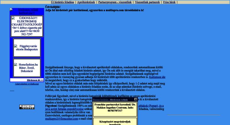 ace986ecc5 Access ingyen-hirdetes.multiapro.com. MultiApró - apróhirdetés ...
