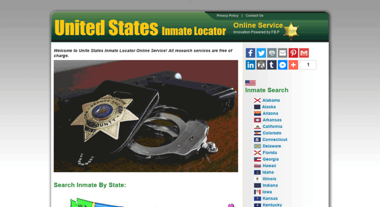 Access inmatelocator us  United States Inmate Locator - Search