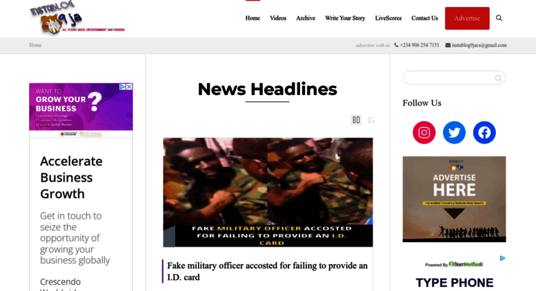 Access Instablog9ja Com Instablog9ja Our Stories Are Told With A Dash Of Sarcasm Instablog9ja is the leading media outlet in celebrity gist and news. accessify