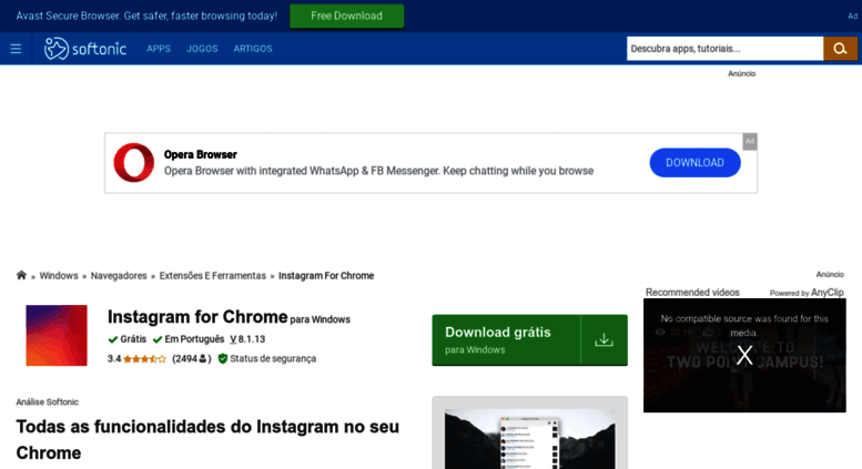 Access instagram-for-chrome softonic com br  Instagram for Chrome