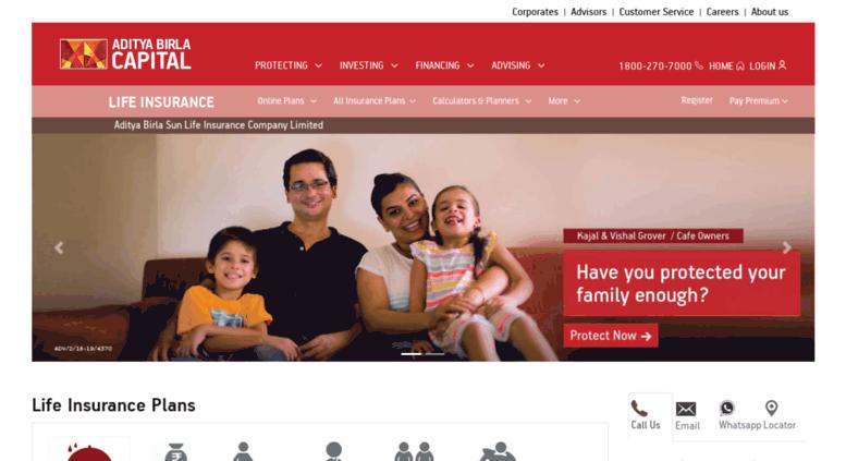 Access insurance.birlasunlife.com. Life Insurance - Life ...