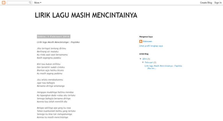 Access intanfarhana19 blogspot com  LIRIK LAGU MASIH