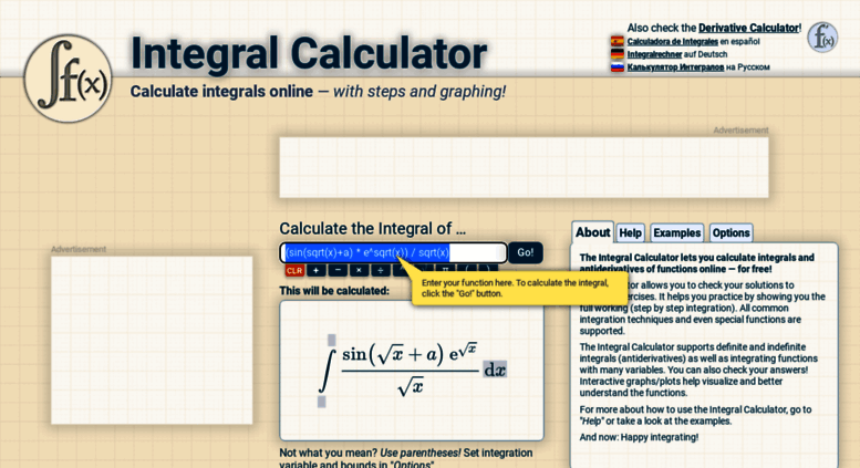 List of Synonyms and Antonyms of the Word: integral calculator