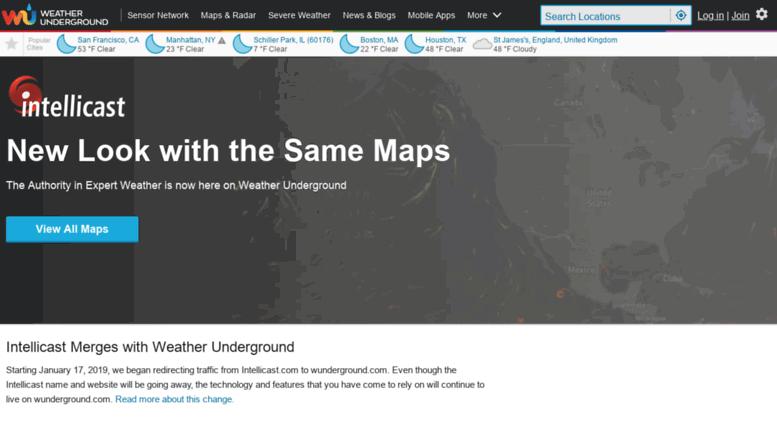 Access intellicast net  Intellicast | Weather Underground