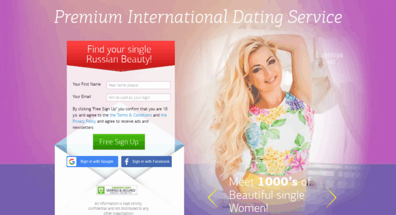 Premium international dating