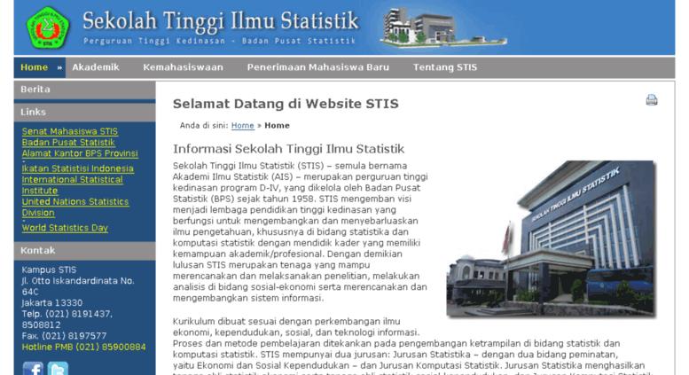 Access intraweb stis ac id  Sekolah Tinggi Ilmu Statistik - Selamat