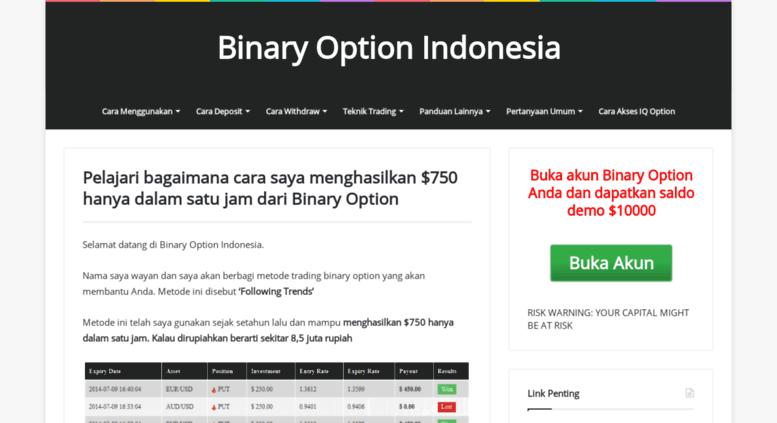 tutorial binary option indonesia di mana saya bisa belajar perdagangan opsi