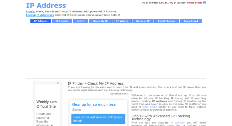 Access ip-address org  IP Address Locator: IP Tracker