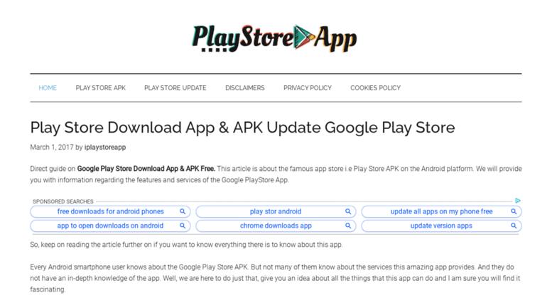 Access iplaystoreapp com  Play Store Download App & APK