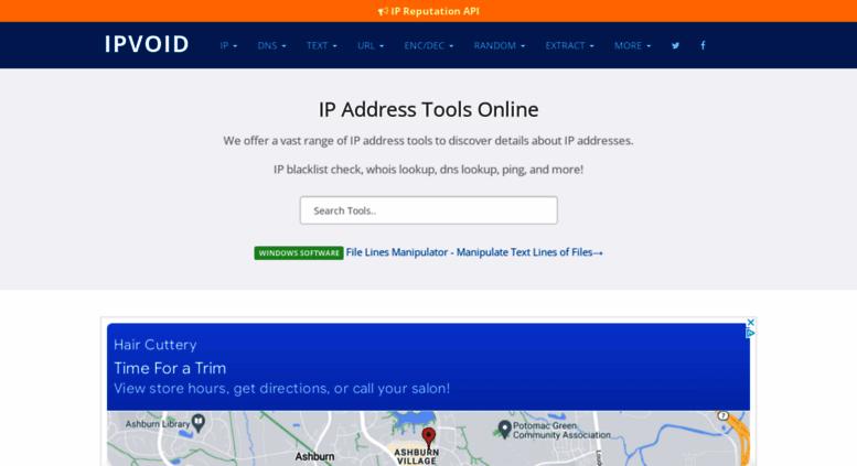 Access ipvoid com  IP Address Tools, Network Tools, DNS Tools | IPVoid