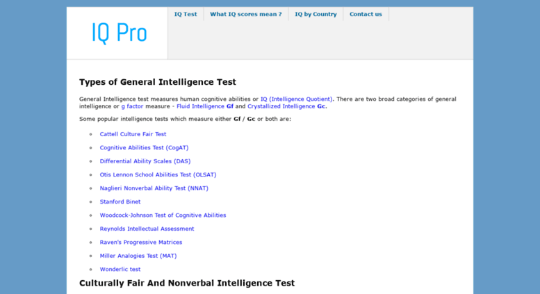Access iqpro org  Online Standard Matrices IQ test | 60 questions in