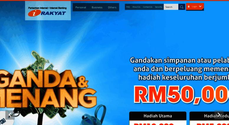 Access irakyat com my  Welcome to Bank Rakyat » Perbankan