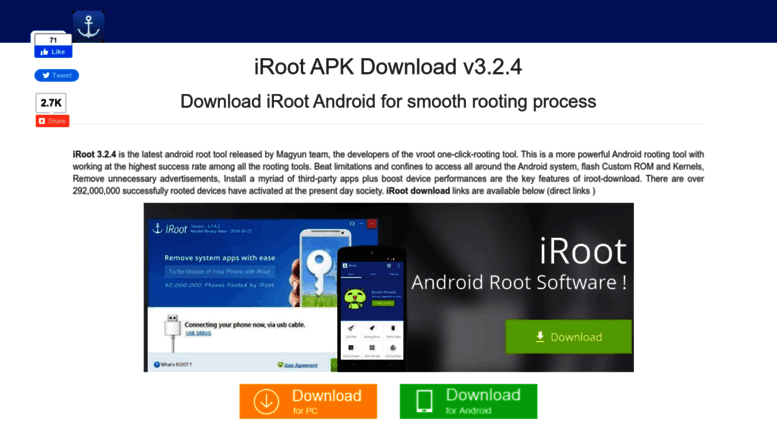 download iroot apk all version