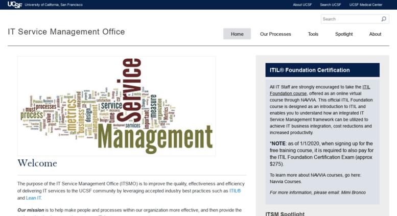 Access itsm ucsf edu  Welcome | IT Service Management Office
