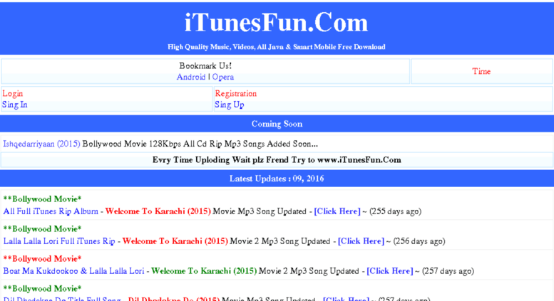 Access itunesfun in  iTunesFun Com™ Music Video Download